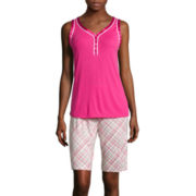 Liz Claiborne® Sleeveless Top and Bermuda Shorts Pajama Set