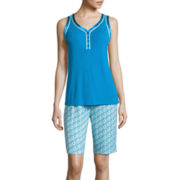 Liz Claiborne® Sleeveless Top and Bermuda Shorts Pajama Set