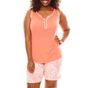 Liz Claiborne® Sleeveless Top and Bermuda Shorts Pajama Set - Plus