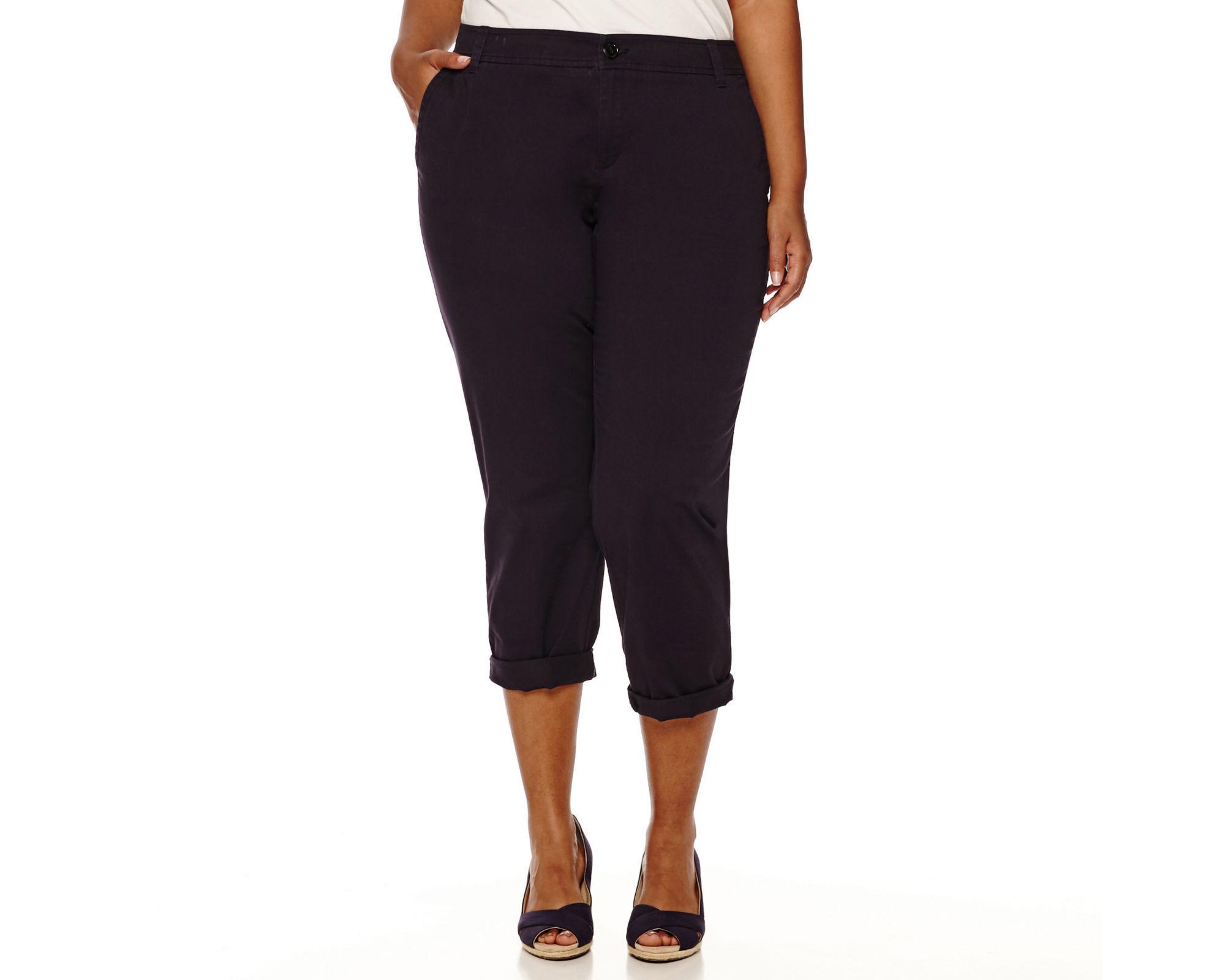 Liz Claiborne Chino Crop Pants - Plus