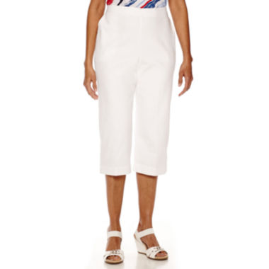 jcpenney.com | Alfred Dunner® All Aboard Pull-On Capri Pants