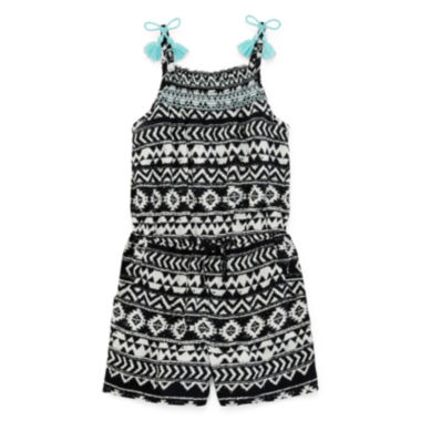 jcpenney.com | Arizona Sleeveless Tassel-Strap Romper - Preschool Girls 4-6x