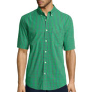 St. John's Bay® Short-Sleeve Poplin Sport Shirt