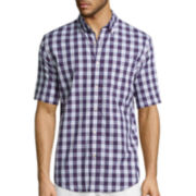 St. John's Bay® Short-Sleeve Americana Stretch Woven Shirt