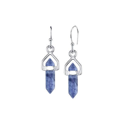 Bridge Jewelry Blue Silver Over Brass Drop Earrings