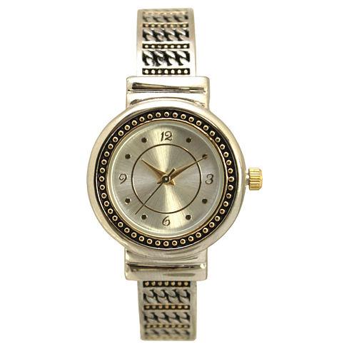 Olivia Pratt Womens Two Tone Bangle Watch-15793