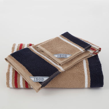 jcpenney.com | IZOD Deconstructed Stripe Bath Towel Collection