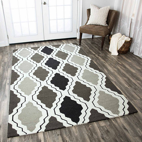 Rizzy Home Country Trellis Rectangular Rugs