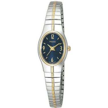 jcpenney.com | Pulsar® Womens Blue Dial Two-Tone Dress Watch PC3090