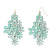 Decree® Mint Green Floral Drop Earrings
