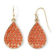 Mixit™ Orange Stone Teardrop Earrings