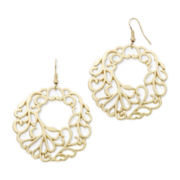 Mixit™ Gold-Tone Filigree Drop Earrings