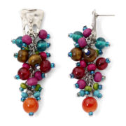 Aris by Treska Multicolor Bead Cluster Earrings