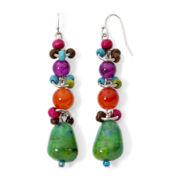 Aris by Treska Multicolor Bead Drop Earrings