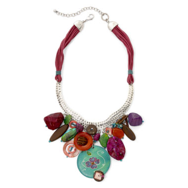 jcpenney.com | Aris by Treska Multicolor Stone Cord Statement Necklace