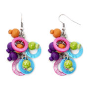 Aris by Treska Multicolor Bead and Shell Cluster Earrings