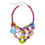 Aris by Treska Multicolor Shell Bib Statement Necklace