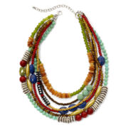 Aris by Treska Multicolor Bead Multi-Row Necklace