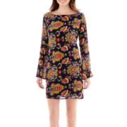 Renn® Bell-Sleeve Print Shift Dress
