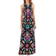 nicole by Nicole Miller® Sleeveless Keyhole Maxi Dress