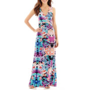 nicole by Nicole Miller® Sleeveless Surplice Maxi Dress