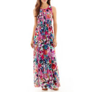 nicole by Nicole Miller® Sleeveless Trimmed Maxi Dress