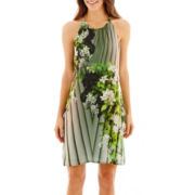 a.n.a® Sleeveless Floral Print Trapeze Dress
