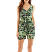 a.n.a® Sleeveless V-Neck Pocket Romper