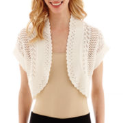 Studio 8 Fashion Corp Short-Sleeve Crochet Shrug Sweater