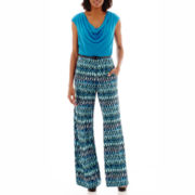 RN Studio by Ronni Nicole Print Belted Jumpsuit