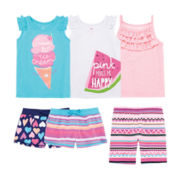 Okie Dokie® Tank Tops or Shorts – Toddler Girls 2t-5t