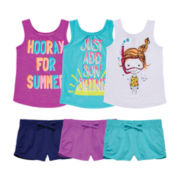OkieDokie® Graphic Tank Top or Shorts – Toddler Girls 2t-5t
