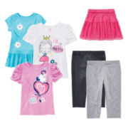 Okie Dokie® Tees, Leggings or Skirt – Toddler Girls 2t-5t