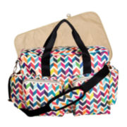 Trend Lab® Chevron Deluxe Duffle Diaper Bag