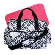 Trend Lab® Scroll Deluxe Duffle Diaper Bag