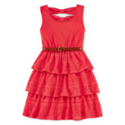 Disorderly Kids® Back-Bow Crochet Lace Dress - Preschool Girls 4-6x