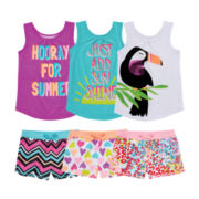 Okie Dokie® Graphic Tank Top or Shorts – Preschool Girls 4-6x