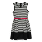 Knit Works Striped Skater Dress – Girls 7-16
