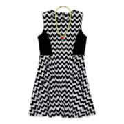 My Michelle® Chevron Skater Dress - Girls 7-16