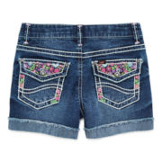 Lee® Flower-Embroidered Midi Shorts – Girls 7-16