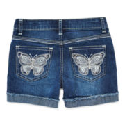 Lee® Butterfly Embroidered Midi Shorts – Girls 7-16