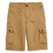 Arizona Poplin Cargo Shorts - Boys 8-20, Slim and Husky