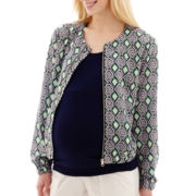 Maternity Print Bomber Jacket - Plus
