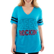 City Streets® Short-Sleeve Tunic T-Shirt - Plus