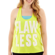City Streets® Knot-Back Graphic Tank Top - Plus