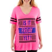 City Streets® Short-Sleeve Tunic T-Shirt - Plus
