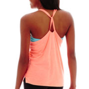 City Streets® Knot-Back Graphic Tank Top