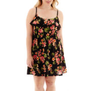 Arizona Sleeveless Ruffle-Front Dress - Plus
