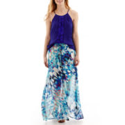 Worthington® Lace-Trim Halter-Neck Blouse or Maxi Skirt - Petite