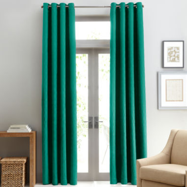 jcpenney.com | Studio™ Luna Grommet-Top Lined Textured Blackout Curtain Panel